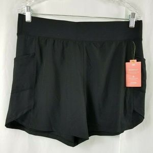 TEK GEAR Women's Size L Large Black Workout Shorts